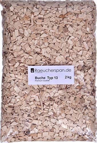 Räucherspäne Räucherchips - Buche Typ 13 grob 6-12mm für Barbecue und Heißräuchern
