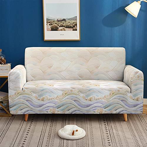 HXTSWGS Cubiertas Elegantes de los Muebles,Fundas de sofá 3D, Funda de sofá elástica Antideslizante para Sala de Estar Funda de sofá en Forma de L-SF 019_1-Asiento 90-140cm