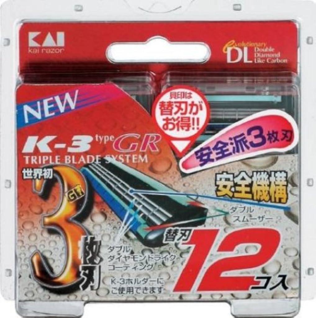 シェア不調和アデレード新K-3GR 替刃12コ入