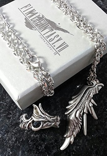 Final Fantasy VII Sephiroth Ring & Halskett Necklace | FF7 Kostüm Cosplay Dissidia Cloud RPG XV 15