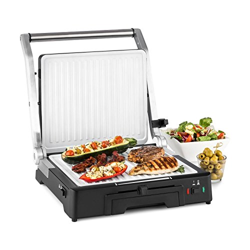 Klarstein Burgermeister 3-in-1 Contact Grill Table - Panini Maker, 2000W,...
