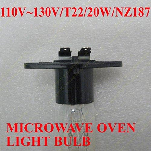 WSDCN.COM 2 Pack, Fulfilled by Amazon, New Microwave Oven Light Bulb Lamp Globe Z187 125V 20W