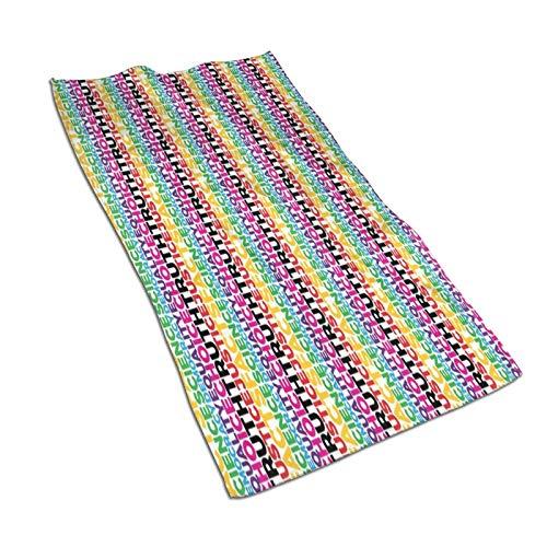 Justice Plus Scale Rainbow Toalla de baño de playa extra grande toalla de microfibra para nadar playa silla cubierta