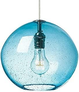 LBL Lighting LF598RDSC2D Indulgent 1-Light Pendant with Red Art Glass Shade and Satin Nickel Finish