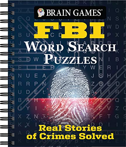 Brian Games - FBI Word Search Puzzles: Real Stories of Crimes Solved (Brain Games)
