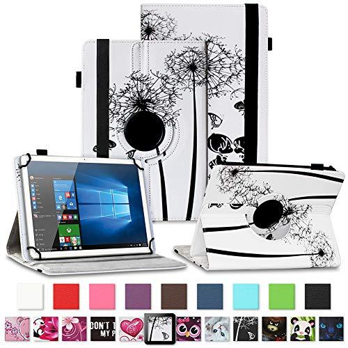 NAUC Tablet Hülle für TrekStor SurfTab Breeze 10.1 Quad/Plus Tasche Schutztasche Cover Schutz Hülle 360° Drehbar Etui hochwertiges Kunst-Leder, Farben:Motiv 8