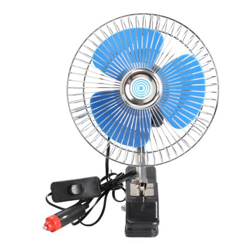 ahomi 12V Vehículo portátil Auto Car Fan Ventilador oscilante del Auto Ventilador de enfriamiento automático