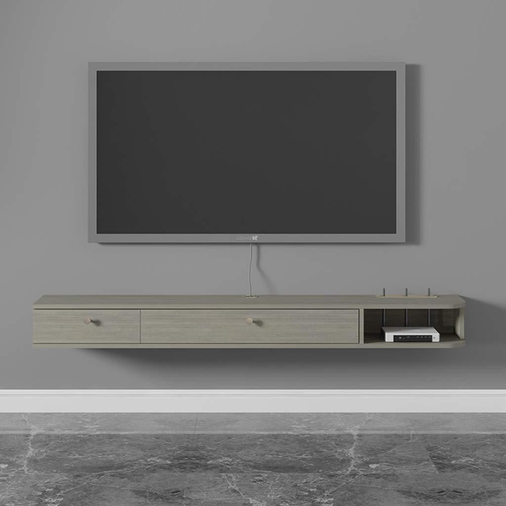 AFEO Mueble TV de Pared Estante Flotante Audio-Video Estanterías Caja de Cable enrutador Estante de Almacenamiento Dormitorio Sala de Estar Estante de la Pared Estante de exhibicion Consola de TV: Amazon.es: Hogar