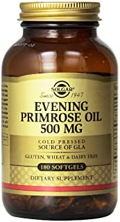 Solgar Evening Primrose Oil Supplement, 500 mg, 180 Count (Pack of 3)
