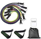 Victoper Bande Elastiche Resistenza, Fasce, 5 Colori, Borsa per Il Trasporto, Maniglie, Ancoraggio da Porta & Cinghie Puntapiedi
