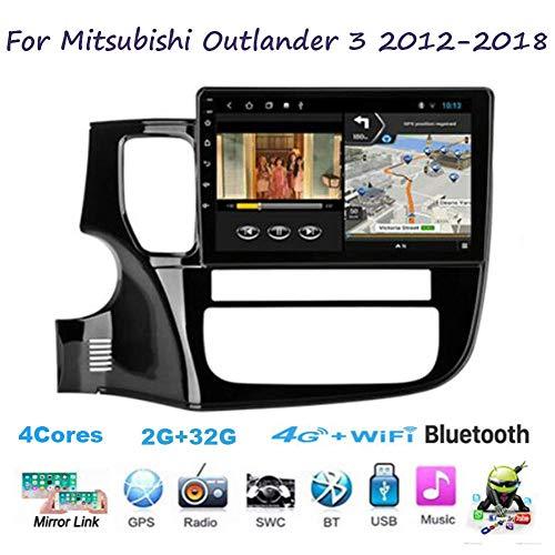 Für Mitsubishi Outlander 3 2012-2018 Navi Doppel-Din Auto Stereo Radio GPS Navigation 9 Zoll Touchscreen Head Unit Multimedia Player Videoempfänger