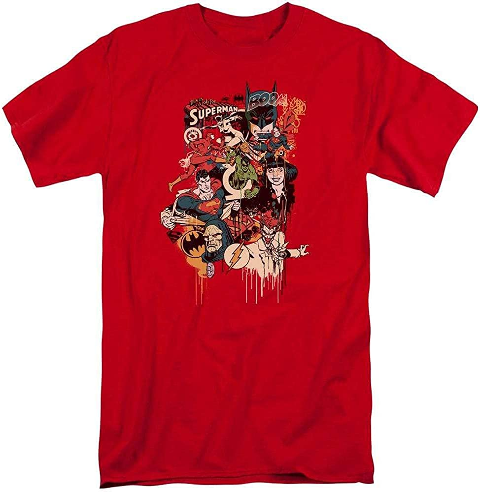 Dc Dripping Characters Adult Tall Fit T-Shirt