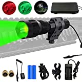 Freelight FL15 Predator Light with Interchangeable Red Green White Led Module, Hunting Flashlight Kit with Picatinny Rail Mount for Coyote Varmint Hog Deer Coon and etc