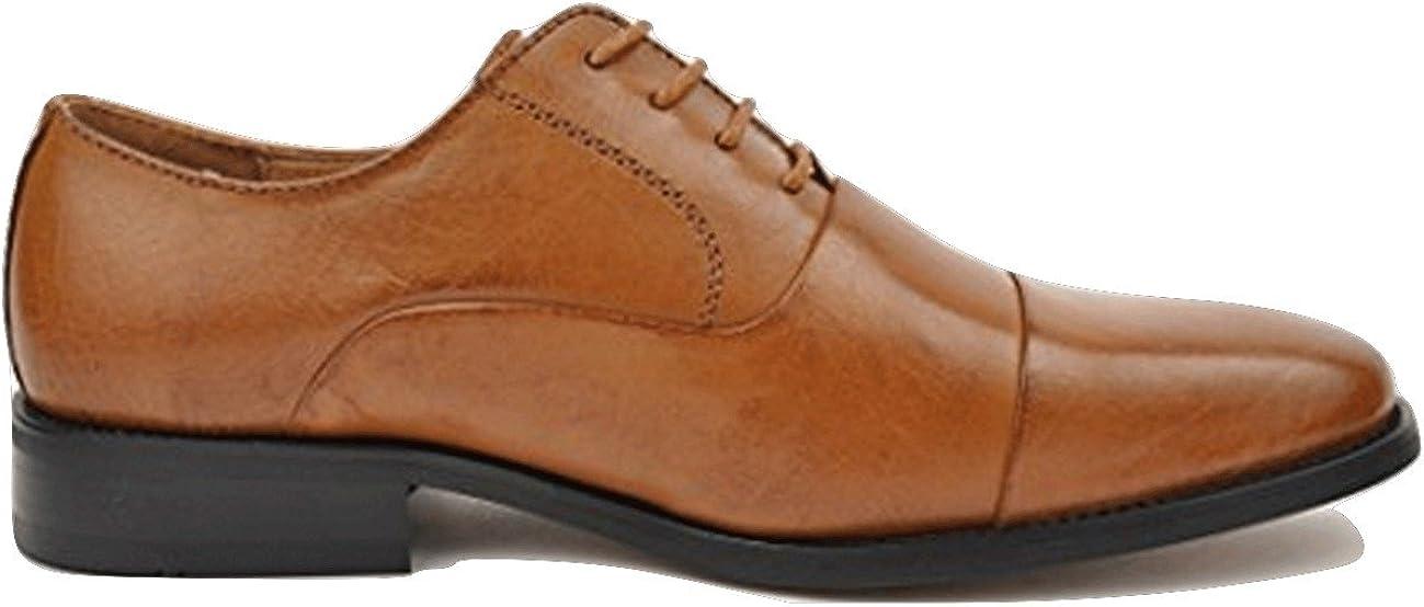 La Milano Men's Genuine Leather Dress Shoes Lace up Oxfords Tan Size 13 Medium (D, M) Style F591