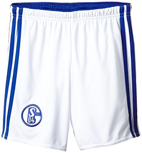 adidas Herren Fußball/Heim-shorts Schalke 04, White/Bold Blue, 176