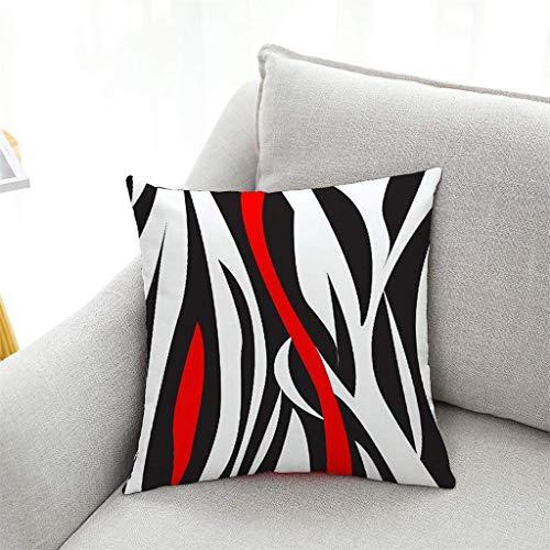 Nyfcc Pillowcase, Creative Geometric Polyester Pillow Case Waist Throw Cushion Cover Home Decor, Home & Garden (Color : A, Size : -)