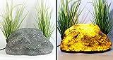 Arnusa Gartenlampe Felsen Dekolampe Gartenfelsen Außenlampe Stein Optik Gartenleuchte