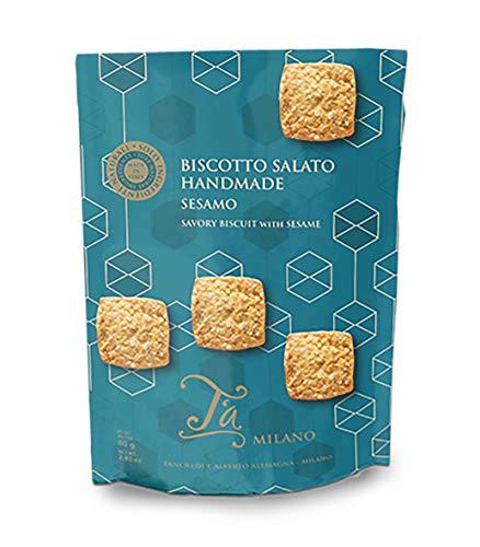 Ta Milano Zout- en kaasdoek, Crackers Gourmet – 80 g (4 stuks)