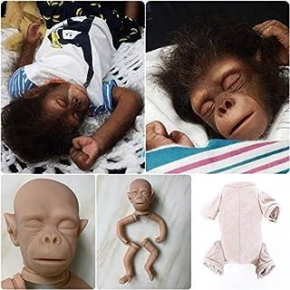 Zero Pam Reborn Doll Kit 19 inches Blank Unpainted Reborn Monkey Dolls DIY Handmade Creative Real Looking Realistic Babies...