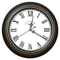 European Vintage Wall Clock, Home Retro Silent Quartz Clock Metal Frame Aluminum Pointer Classic Print Clock dial Hd Glass-H 12 inch (30 cm)