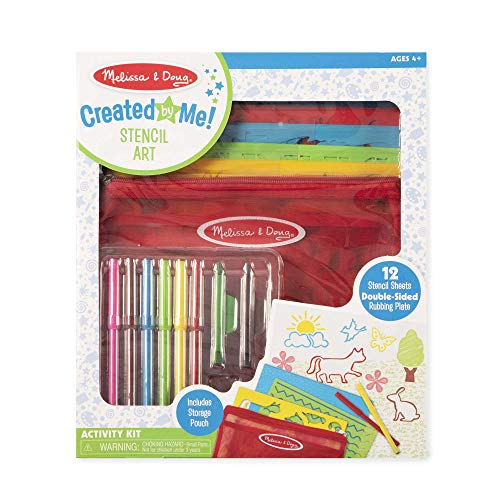 Melissa & Doug Stencil Art Coloring Activity Kit