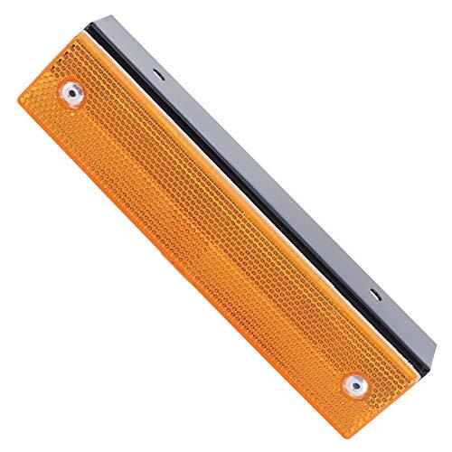 Road Stud, señal reflectante 18x3.5cm reflectores de seguridad amarillos para pavimento de calles para badenes aceras