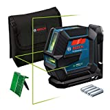 Bosch Professional Laser Level GLL 2-15 G (green beam, indoor, LB 10 holder, visible range: up to 15 m, 4x AA batteries)