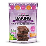 ZenSweet Baking Dark Chocolate Brownie Mix - Naturally Gluten Free & Grain Free, Low Carb, Sugar...