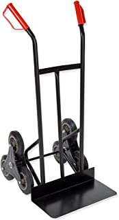 tectake 400753 Carretilla de Mano Sube Escaleras Profesional de Transporte 150 kg Carro