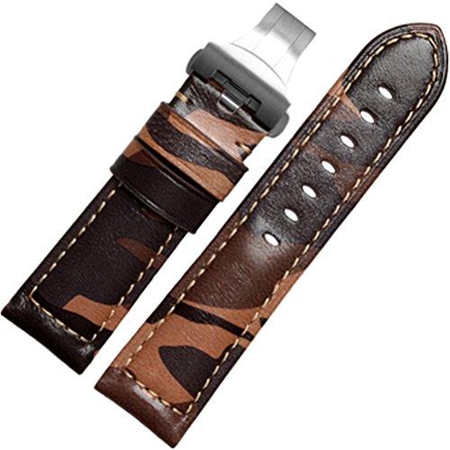 ドットタウン腕時計レザーベルト革パネライ取付タイプ多数DバックルLB096A-SV26[並行輸入品]