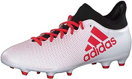 adidas X 17.3 Fg, Scarpe da Calcio Uomo, Bianco (Ftwwht/Reacor/Cblack Ftwwht/Reacor/Cblack), 41 1/3 EU