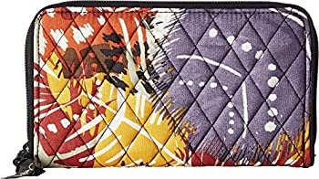 Vera Bradley Accordion Wallet In Painted Feathers 15657-663