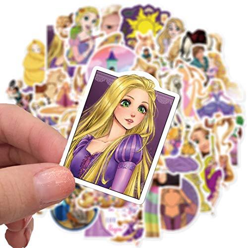 DSSJ 50 Piezas de Rapunzel Princesa Ordenador portátil teléfono móvil Taza de Agua Equipaje Creativo Graffiti Personalidad Pegatinas Impermeables