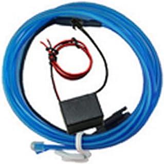 Red de Cable electroluminiscente Panel LED luz Que Brilla la luz de neón Gap 1 Coche Conjunto de Cable para Interiores de automóviles decoración del Coche 1 m / 3,3 pies Azul Claro