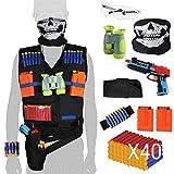 Hugo's Ocean Kids Tactical Vest Kits Boy Toys Gifts for Nerf Guns N-Strike Elite Series