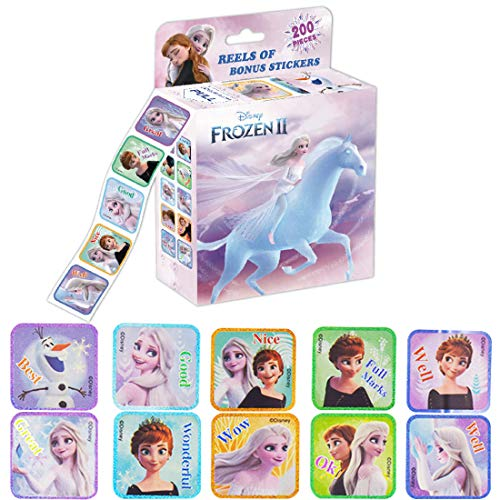 YUESEN Frozen Aufkleber 200PCS Frozen Stickers Alben Graffiti Laptop Skateboard Gepäckaufbewahrung Fahrrad Kinder DIY Decal Sticker