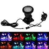 Pond Lights Underwater, KY-Tech IP68 Waterproof Underwater Spotlights LED Lighting Garden Pond Light Color Changing LED Aquarium Light Fish Tank Light with Remote Controller(UK Plug)