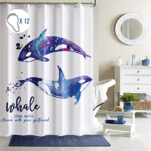 Different Whales Shower Curtain