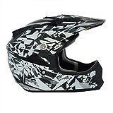 Viper Helmets - Casco da Moto Craze per Bambini RSX13, Nero/Argento, YM(51-52 cm)