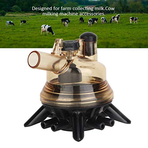 SISHUINIANHUA Kuh-Schaf-Melker-Melkmaschine-Teil-Ersatzmilch-Greifer-Block-Tränken-Schüsseln für den Bauernhof, der Milch sammelt