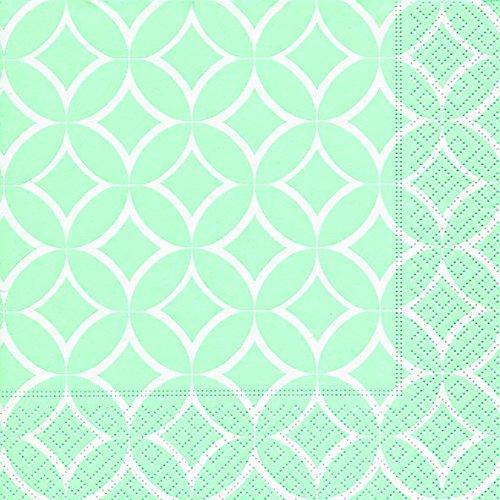 Servietten (2er Set / 40Stück) 3-lagig 33x33cm Sommer Muster (Ida green)