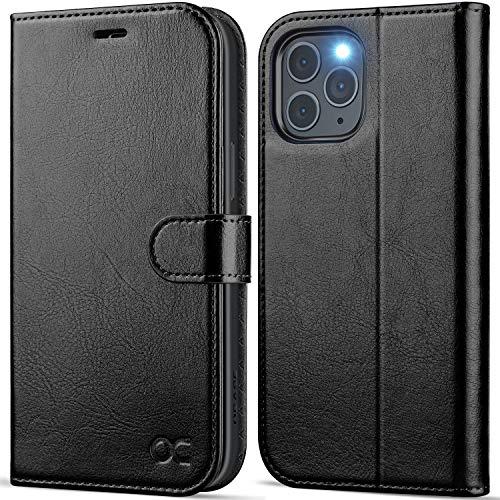 OCASE Handyhülle iPhone 12 Pro MAX Hülle [Premium PU Leder] [Kartenfach] [Magnetverschluss] Lederhülle RFID Schutzhülle Klapphülle Tasche Hülle Cover Etui Kompatibel für iPhone 12 Pro MAX 5G Schwarz