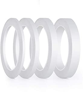 comprar comparacion FEPITO 4 Rollos Cinta de doble cara Cinta de costura adhesiva fuerte para Craft Class Office, 25 metros cada rollo (Ancho:...
