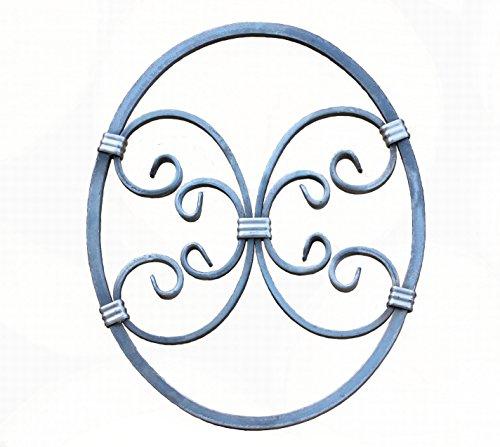 UHRIG ® NEU! Schmiedeeisen Ornament Oval Gitter Fenstergitter Stahl Eisen geschmiedet #555