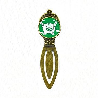 Year of Ox Animal China Zodiac Pattern Bookmark Retro Office Label Page Marker