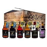 CEREX - Pack 12 cervezas artesanales Cerex 33 cl. - 2 Pilsen, 2 Ibérica de Bellota, 2 Castaña, 2 Cereza, 2 Andares, 2 Frambuesa - Mejor Cerveza Artesanal de España Premios'World Beer Awards 2017'