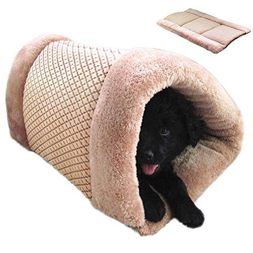 GossipBoy Panier pour animal domestique et tapis Matière peluche chauffée lavable et confortable