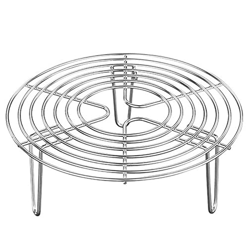 N / B Rejilla para vaporera de Acero Inoxidable, Rejilla de enfriamiento Redonda Multiusos para Hornear, enlatar, cocinar, cocinar al Vapor, Levantar Alimentos en ollas