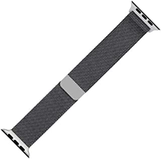 Stainless Steel Watch Band Metal Strap 44mm 42mm Compatible with Apple Watch Series 6/5 / 4/3 / SE (Space Black)