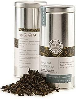 Golden Moon Tea - Coconut Pouchong Tea - Loose Leaf - Non GMO - 1.3oz Tin - 16 Servings